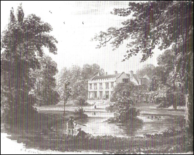 Painting of the Bury by R.B Harradan early 1800s. Photo from Pictorial Melbourn p22, The Melbourn Village History Group