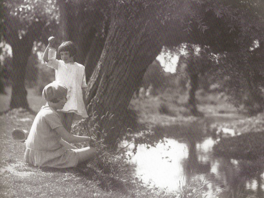Fishing in the river Mel. Photo from Pictorial Melbourn, The Melbourn Village History Group