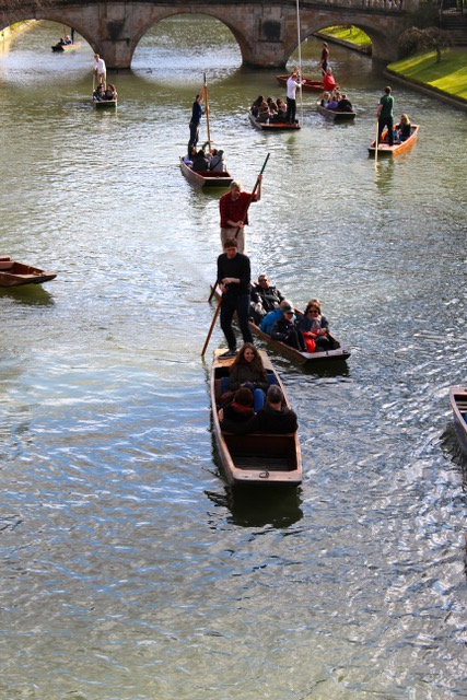 Chalk streams in literature - Punting in Cambridge Photo by J.S. Watts)